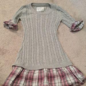 Little girl sweater dress